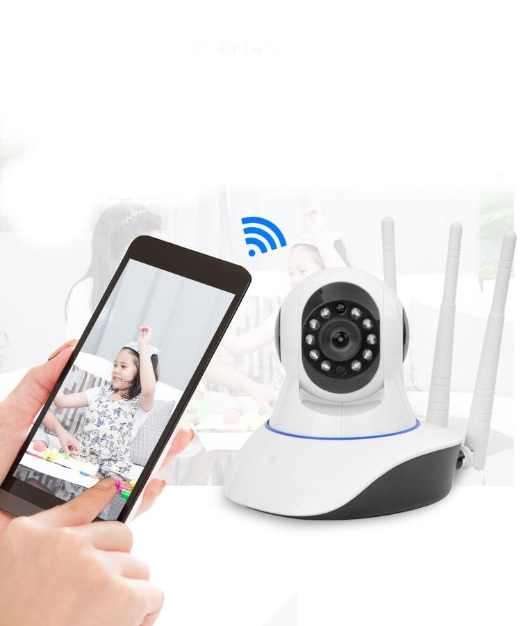 Câmera Ip Robô Ahd Wi-fi Hd 720p 1.3Mp 3 Antenas