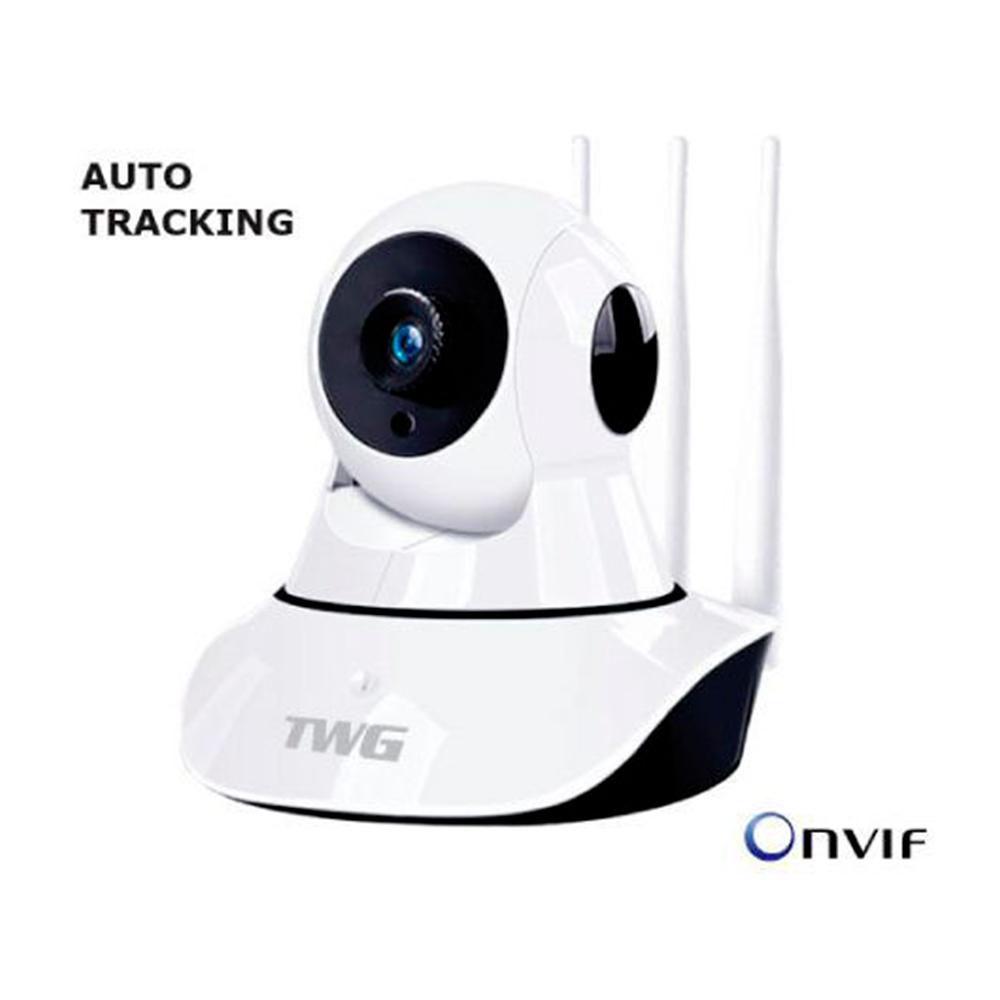 Câmera Ip Sem Fio Twg Wifi Hd 720P Robo Cartão Sd, 3 Antenas, Visão Noturna, Auto Traking