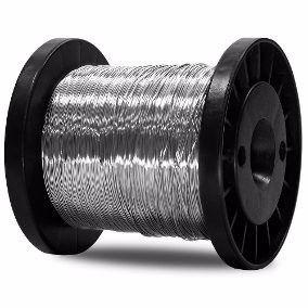 Carretel Arame Aço Inox Cerca Elétrica Fio 0,70mm Bobina 293 Metros