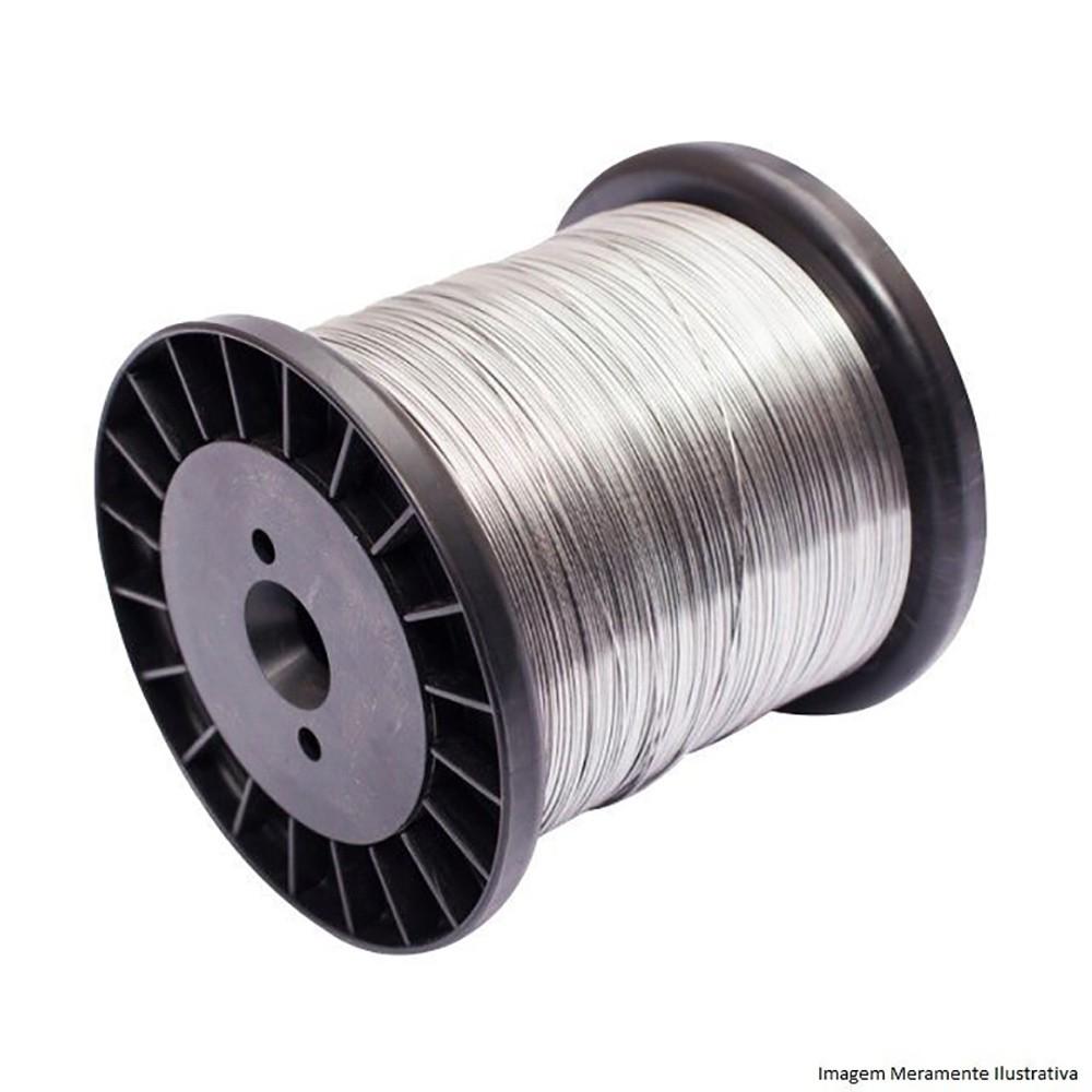 Carretel Arame Aço Inox Cerca Elétrica Fio 1,20mm 1,00KG Bobina 99 Metros