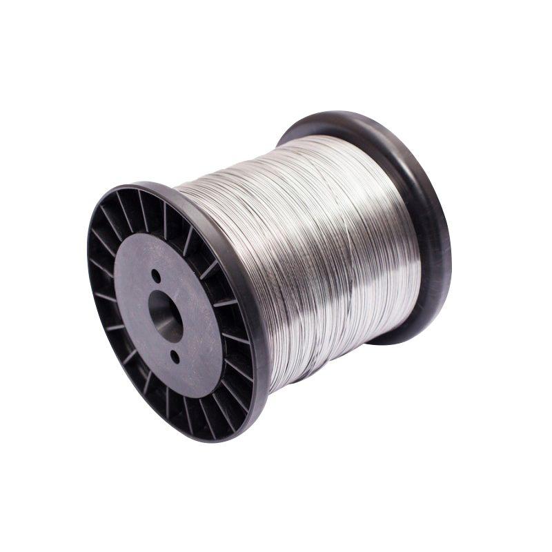 Carretel Arame Aço Inox Cerca Elétrica Fio 1,20mm 1,00KG Bobina 99 Metros Mega Forte