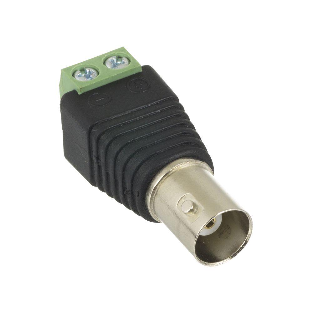 Conector Plug BNC Fêmea com Borne
