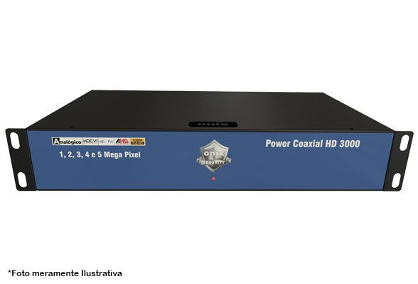 Kit Power Coaxial 16 Canais HD 3000 com Mini Rack 5U Acrílico Onix