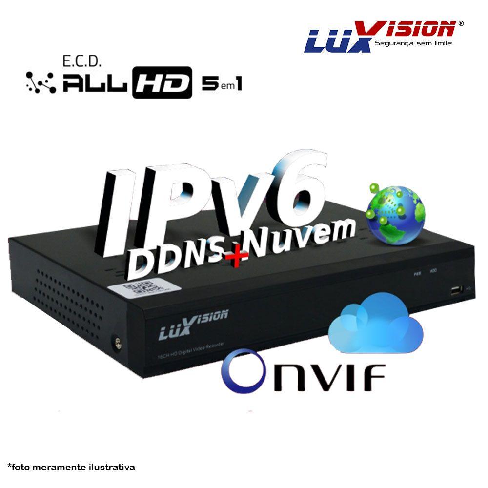 Dvr Stand Alone All 5 em 1 Luxvision ECD 08 Canais - AHD / HDTVI / HDCVI / IP / ANALÓGICO