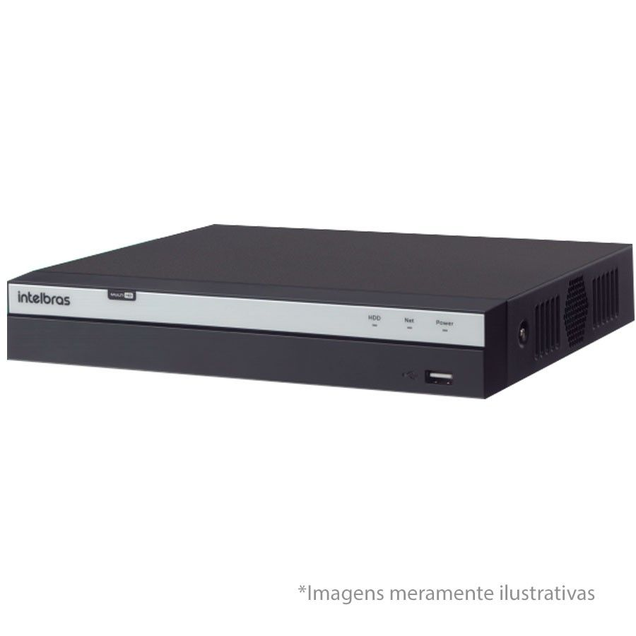DVR Stand Alone Intelbras 3116 16 Canais Full HD 1080p Multi HD + 8 Canais IP 5 MP