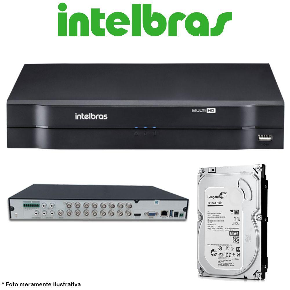 DVR Stand Alone Multi HD Intelbras MHDX-1108 8 Canais + HD 500GB Pipeline de CFTV