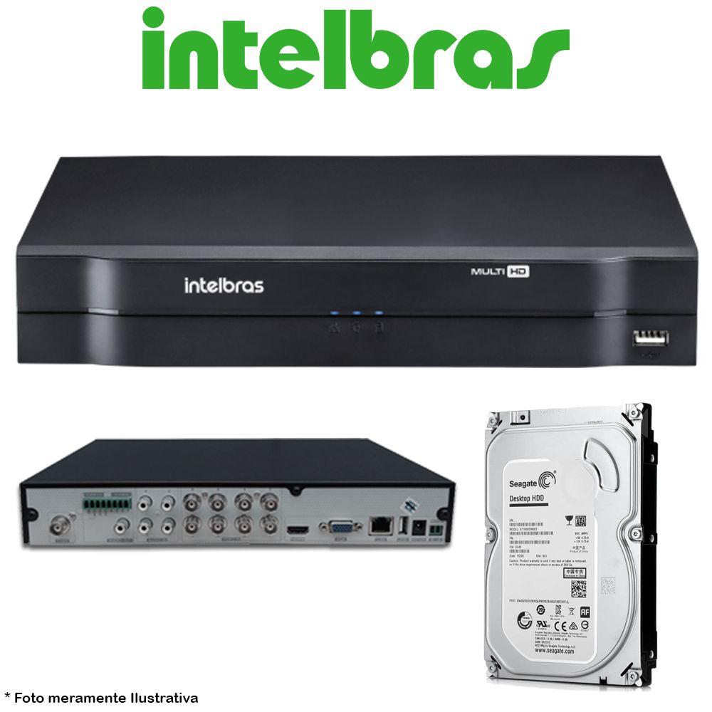 DVR Stand Alone Multi HD Intelbras MHDX-1116 16 Canais + HD 500GB Pipeline de CFTV