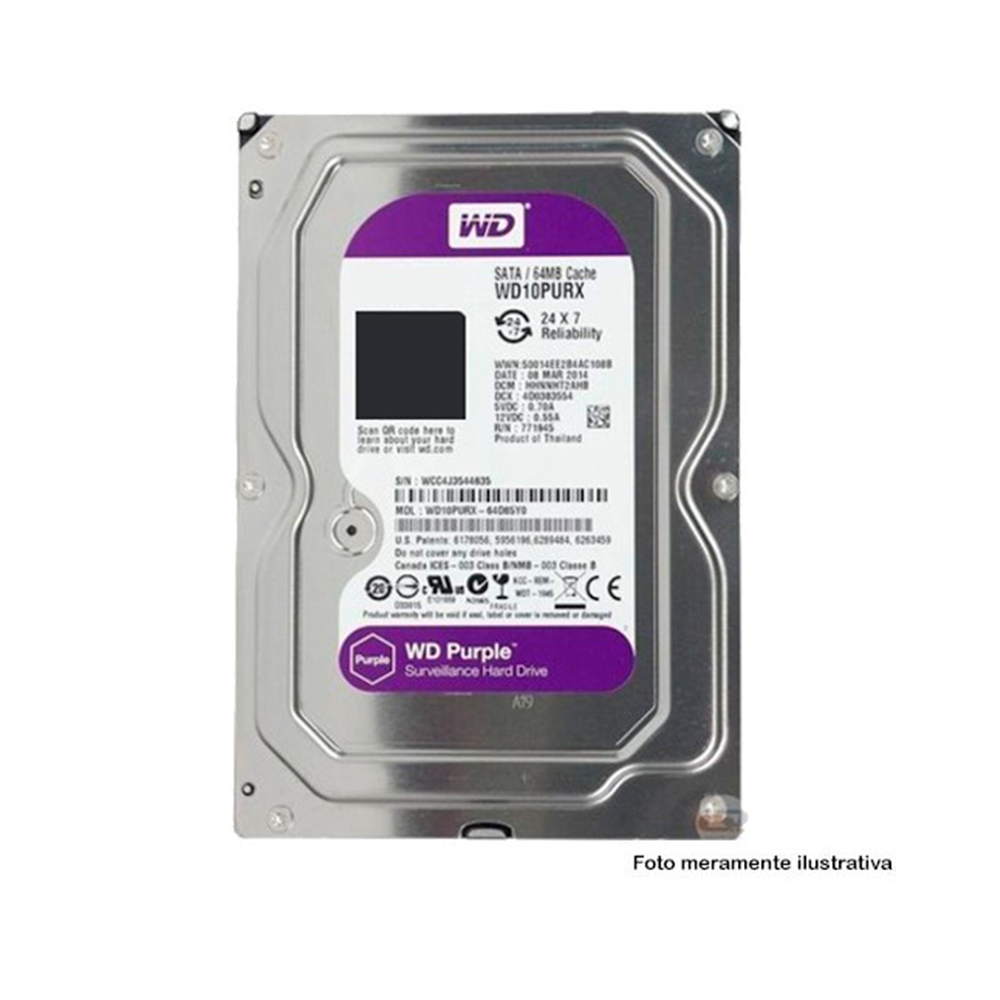 Dvr Stand Alone Multi Hd Intelbras Mhdx-1108 8 Canais + Hd 2Tb Wd Purple De Cftv