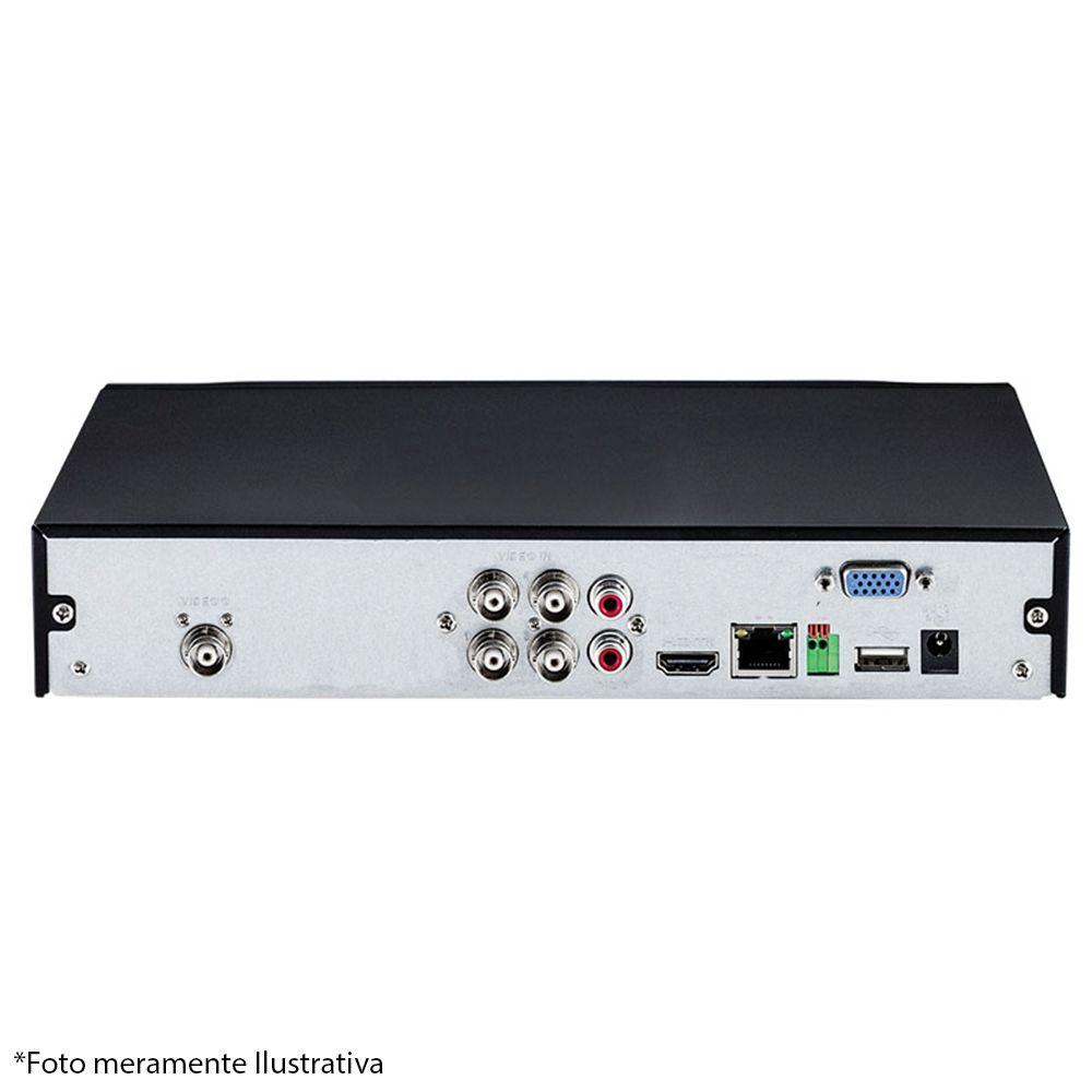 DVR Stand Alone Tecvoz TW P3004 04 Ch 1080p Flex 5 em 1 AHD + HD 500GB Pipeline de CFTV
