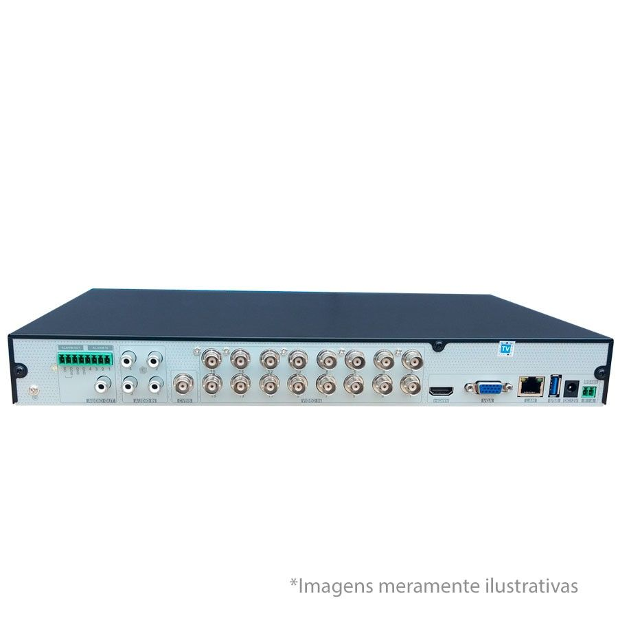 DVR Stand Alone Tecvoz TW P316 16Ch 720p Flex 5 em 1 AHD + HD WD 1TB Purple de CFTV