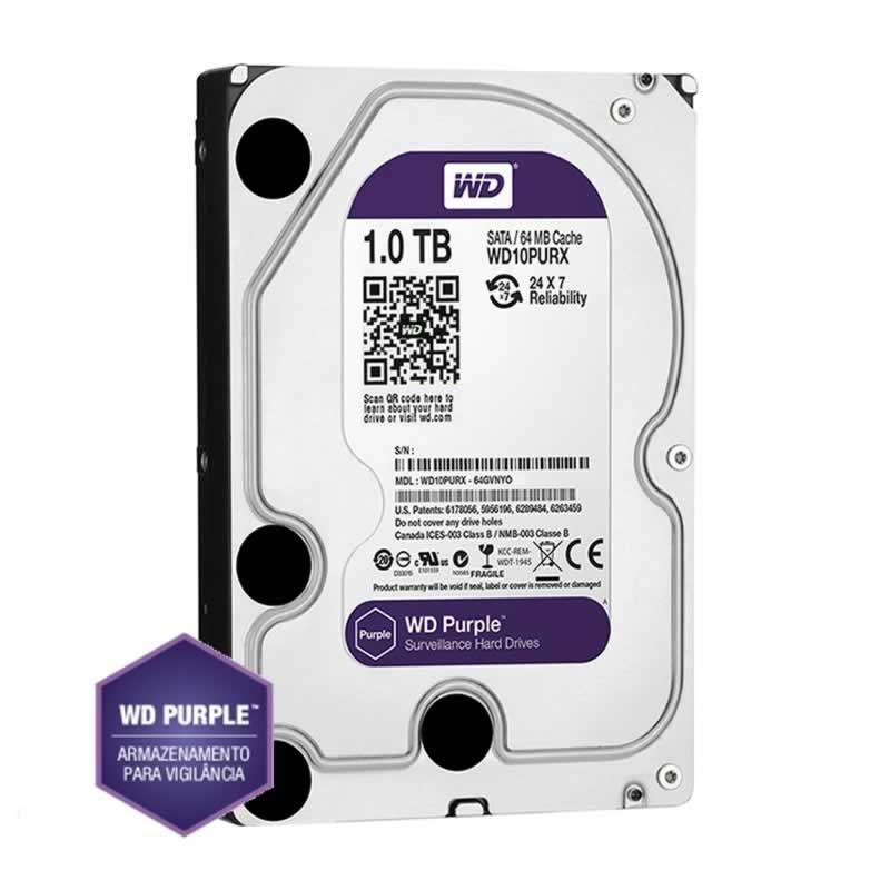 DVR Tecvoz TW P3016 16 Ch 1080P Flex 5x1 + HD WD 1TB Purple