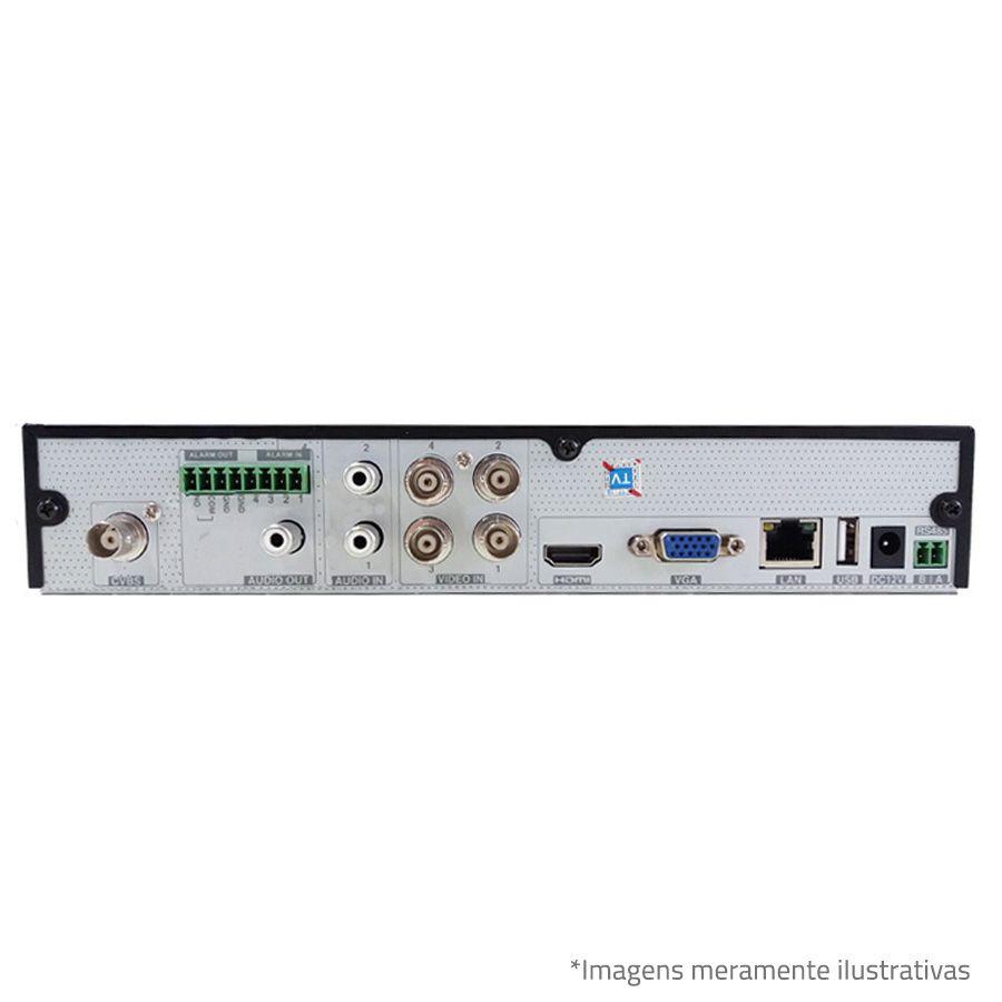 DVR Tecvoz TWE304 4Ch 720p Flex 5 em 1 AHD + HD 500GB Pepiline de CFTV