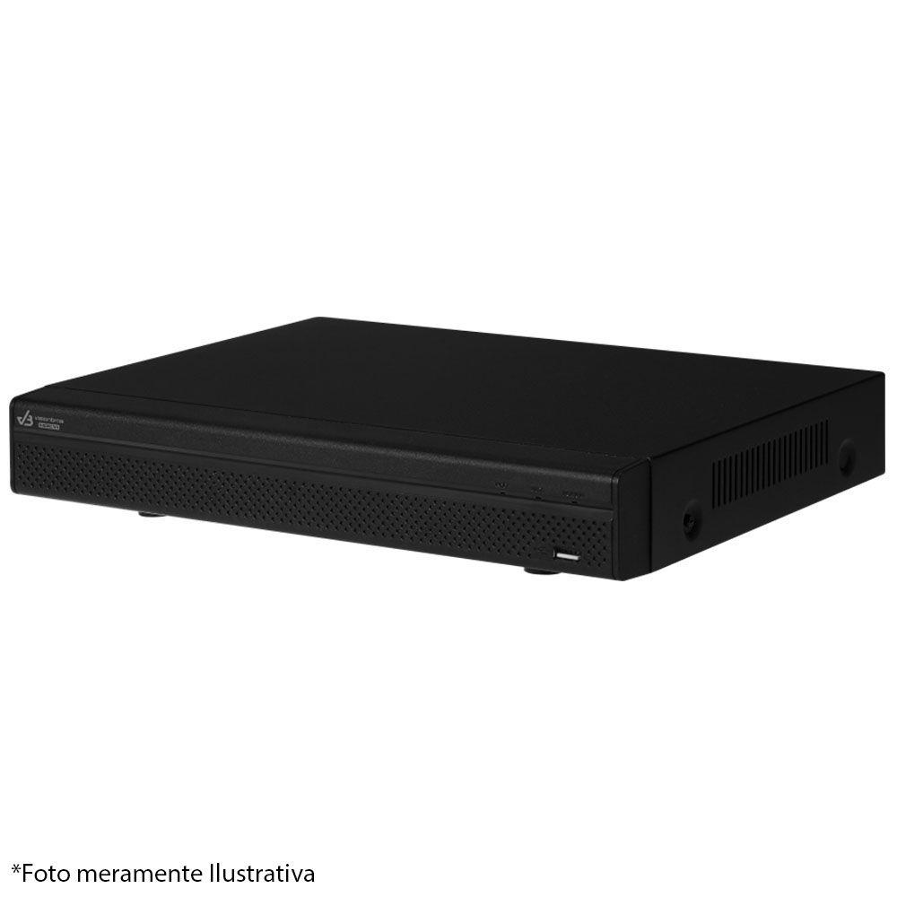 DVR UltraHD Visionbras XVR 5104 4 Canais 1080P + HD 500GB Pipeline Pul de CFTV