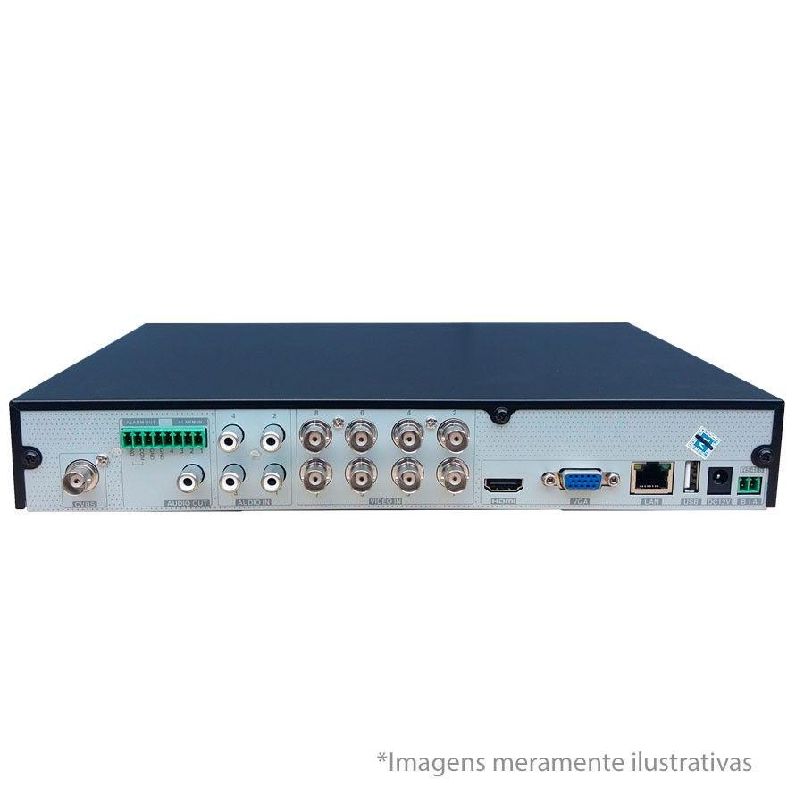 DVR UltraHD Visionbras XVR 5108 8 Canais 1080P + HD 1TB WD Purple de CFTV