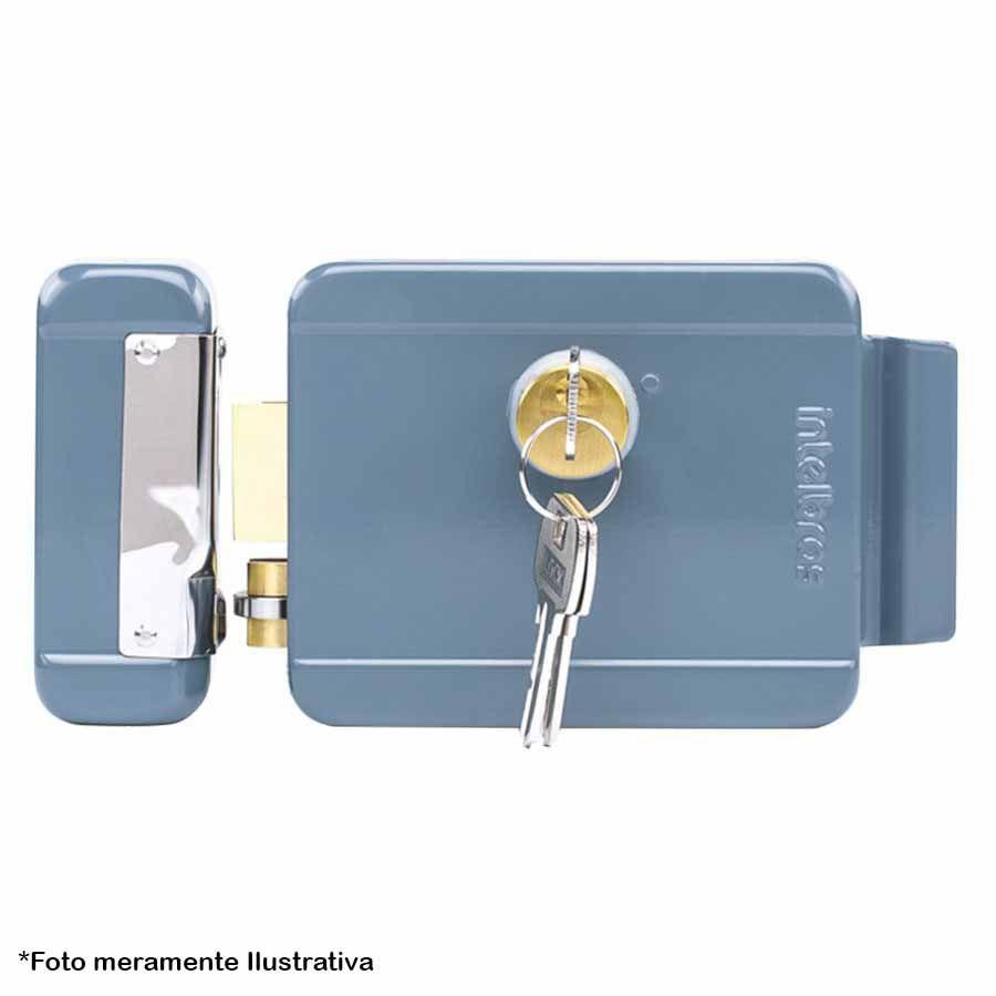 Fechadura Elétrica de Sobrepor Intelbras FX 2000 Cinza