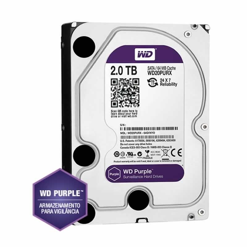 Hd Sata3 2 TB Western Digital Purple WD20PURX