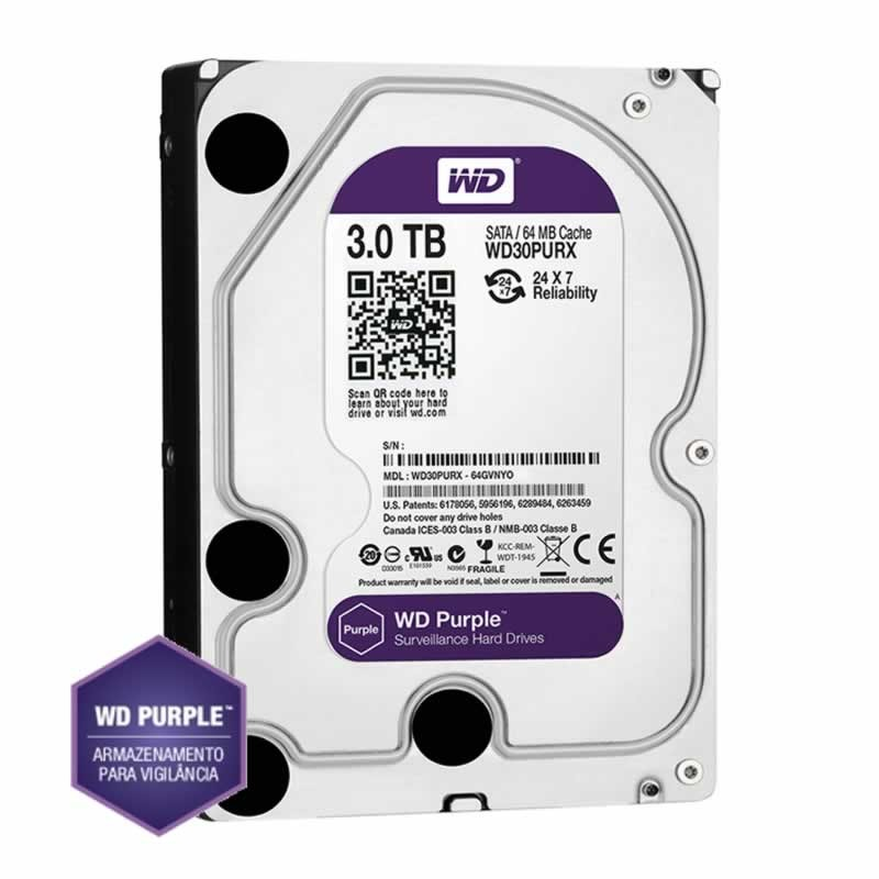 Hd Sata 3 3 TB Western Digital Purple WD30PURX