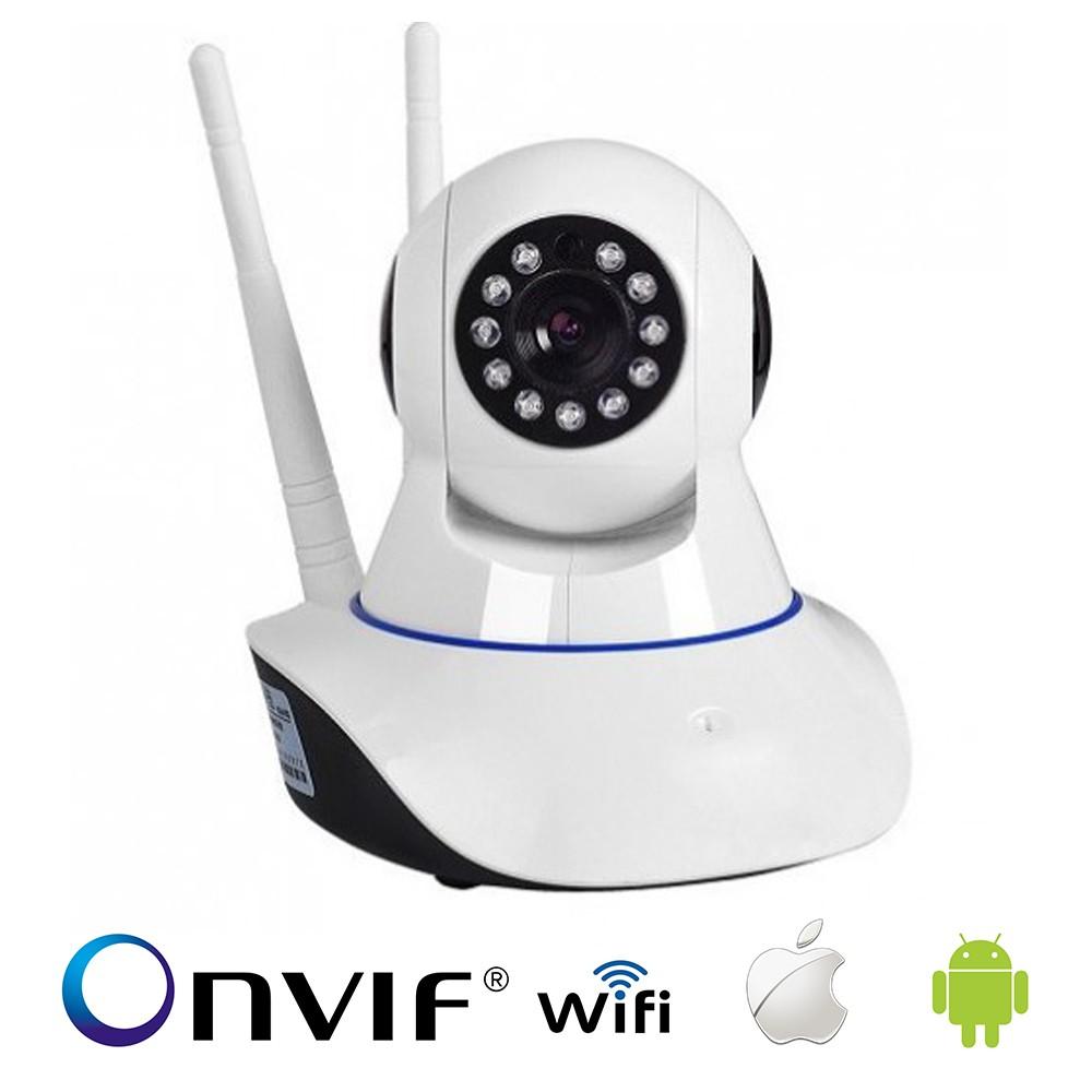 KIT 3 Câmera de Segurança Ip Robô WIFI AHD 720p P2P Onvif 1.3Mp