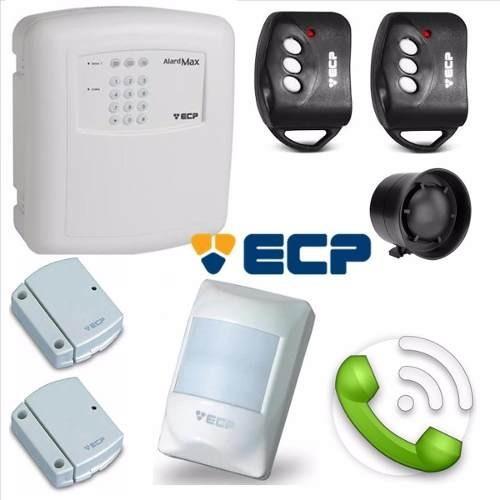 Kit Alarme Residencial Comercial Ecp Alard Max  Sem Fio com 03 Sensores