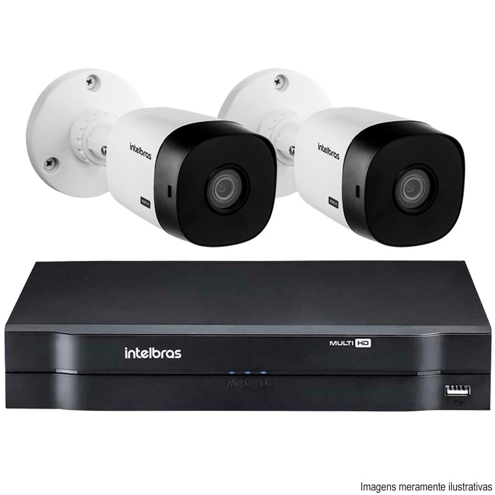 Kit Cftv 2 Câmeras Bullet Hdcvi Vhl 1120B Lite 3,6Mm 720P G4 Dvr 4 Canais Intelbras Mhdx 1104 + Acessórios