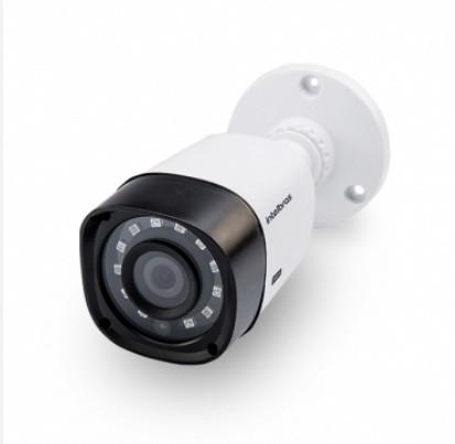 Kit Cftv 2 Câmeras Multi HD VHD 1120B Bullet Infravermelho 2,8MM 720p Dvr 4 Canais Intelbras MHDX 5 em 1 AHD, HDCVI, HTVI E ANALOGICO E IP + HD 320GB