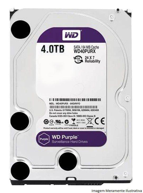 Kit Cftv 2 Câmeras Vhd 1220B 1080P 3,6Mm Dvr Intelbras Mhdx 3004 + Hd 4Tb Wdp