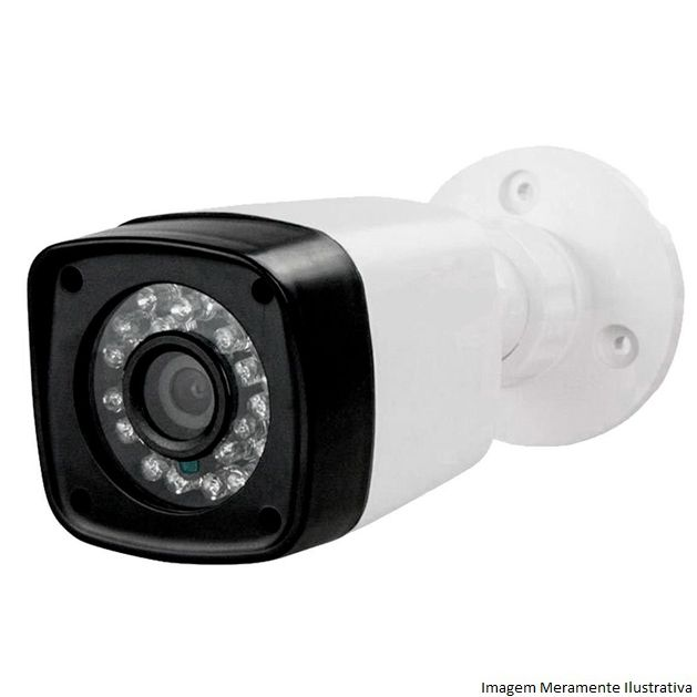 Kit Cftv 4 Câmeras AHD Bullet 720p Dvr 8 Canais Luxvision 5 em 1 + Acessórios