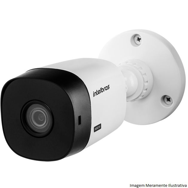 Kit Cftv 4 Câmeras Bullet HDCVI Lite VHL 1120B 720p G4 Dvr 8 Canais Intelbras MHDX + HD WDP 2TB