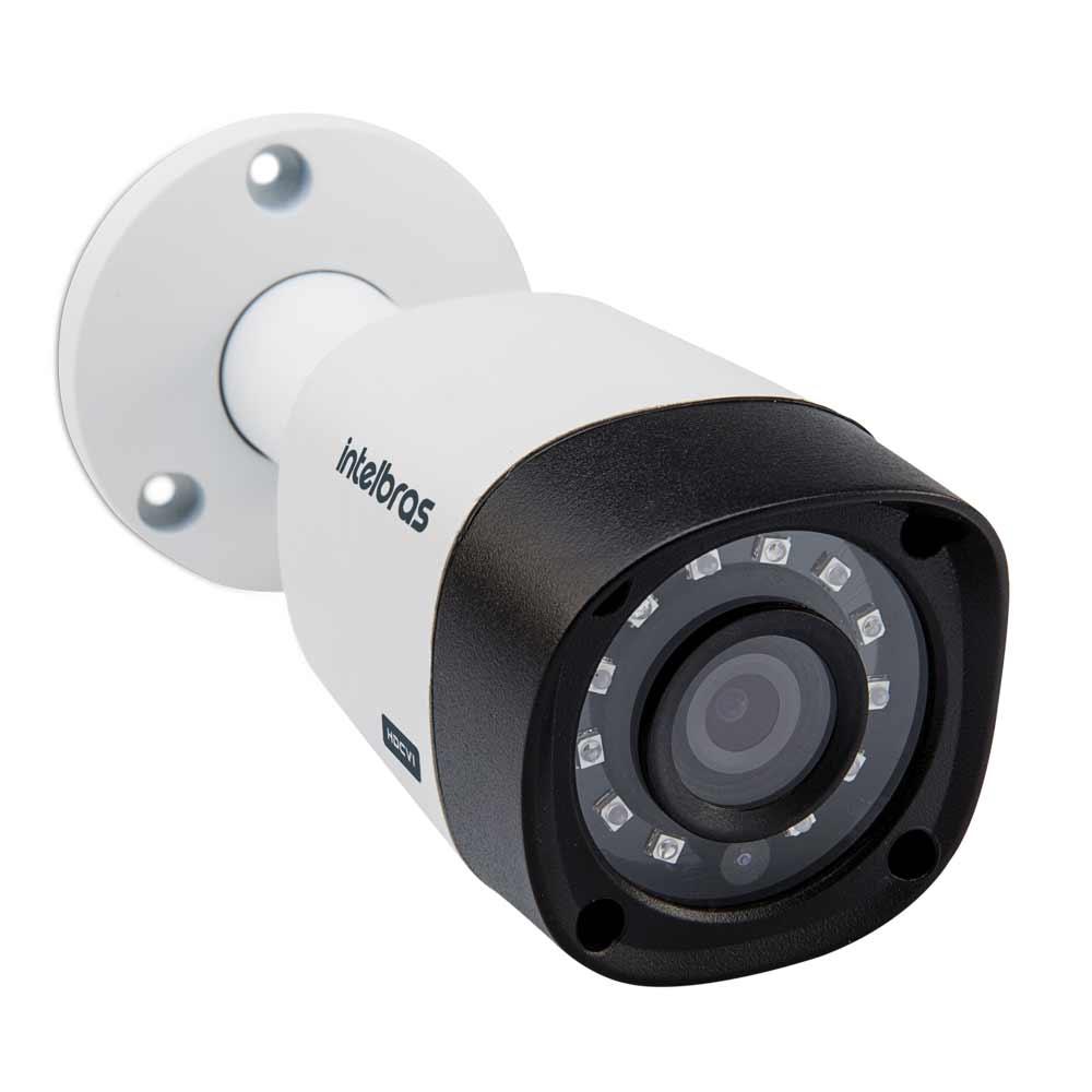 Kit Cftv 4 Câmeras Multi HD VHD 1010B Bullet Infravermelho 3,6MM 720p Dvr 4 Canais Intelbras MHDX 5 em 1 AHD, HDCVI, HTVI E ANALOGICO E IP + HD 250 GB