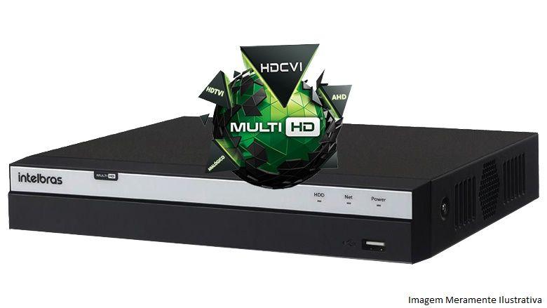 Kit Cftv 4 Câmeras Vhd 1220B 1080P 3,6Mm Dvr Intelbras Mhdx 3108 + Hd 3Tb Wdp