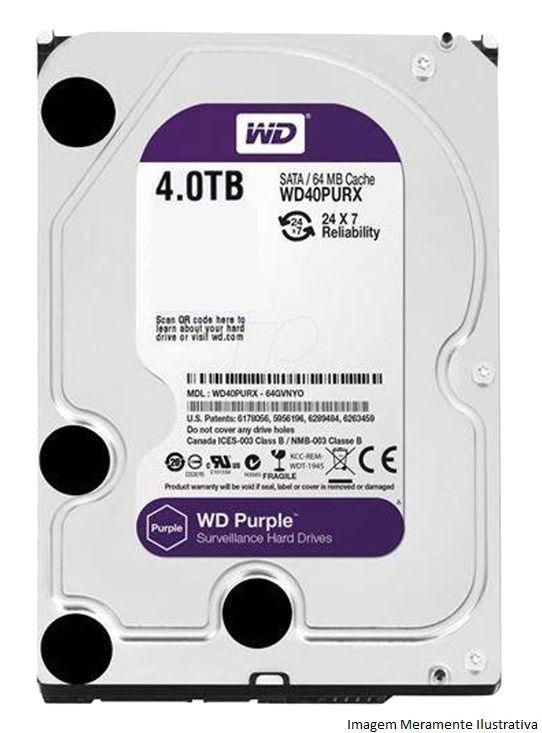 Kit Cftv 4 Câmeras Vhd 1220B 1080P 3,6Mm Dvr Intelbras Mhdx 3108 + Hd 4Tb Wdp