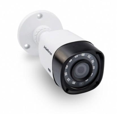 Kit Cftv 2 Câmeras VHD 1010B Bullet 720p Dvr 4 Canais Intelbras MHDX + HD 250GB