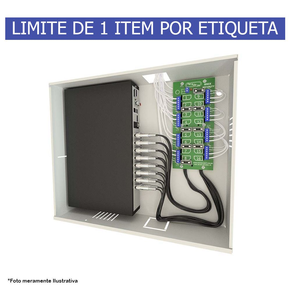 Kit Rack Mini Orion HD 3000 04 Canais Organizador de Cabos Onix Segurity Para DVR