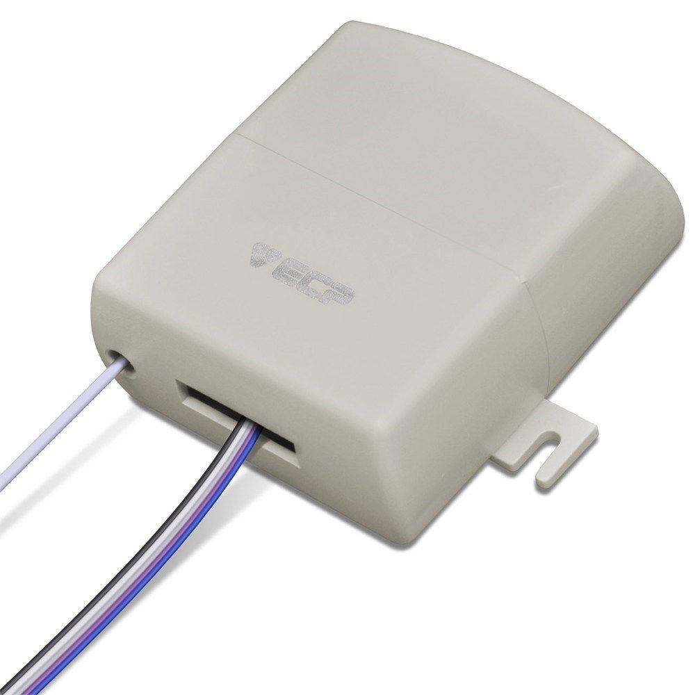 Receptor Reptor Multifuncional ECP 2 Canais 433 Mhz Alcance 80 Metros
