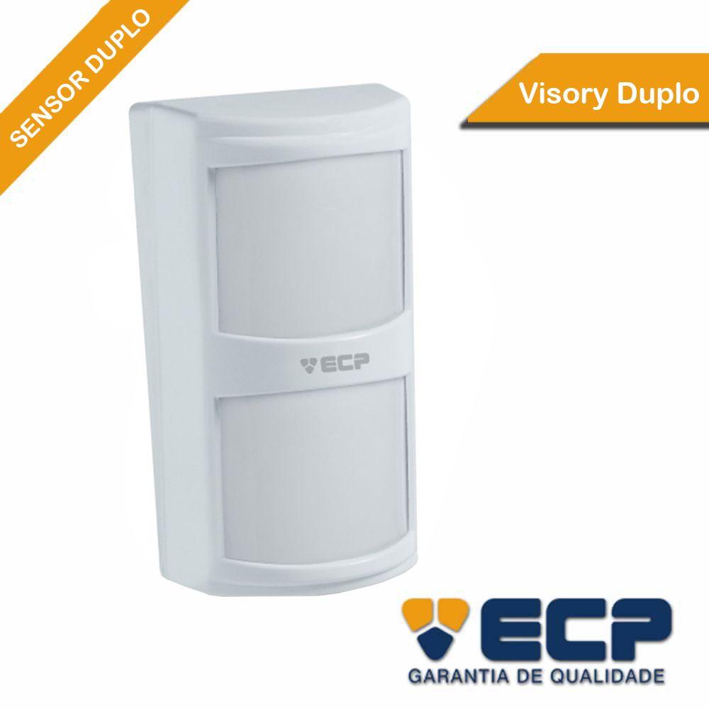 Sensor Infravermelho Passivo ECP IVP VISORY Duplo Pet até 20Kg