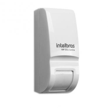 Sensor Infravermelho Passivo Intelbras IVP 3011 Cortina, Ângulo de detecção de 15º, 2 níveis de sensibilidade ajustados por jumpers, Compensação real de temperatura
