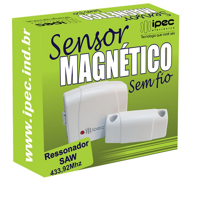 Sensor Magnético Sem Fio Ipec Ressonador Saw Presença Portas E Janelas
