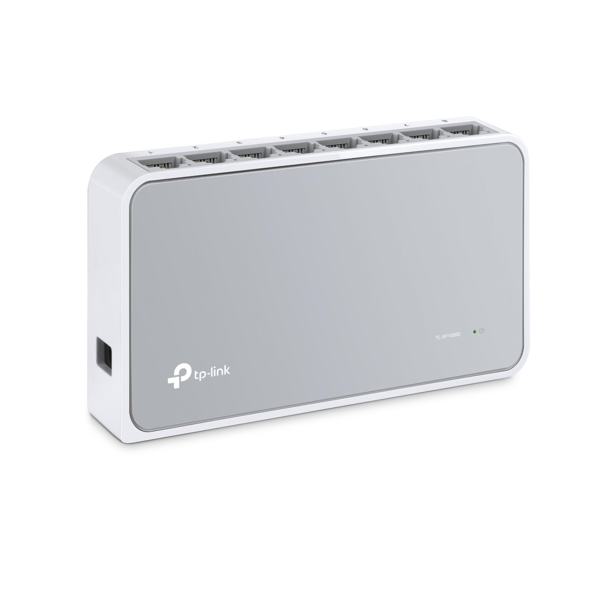 Switch de Mesa de 8 Portas 10/100Mbps TL - SF1005D, Portas RJ45, Suporta Auto MDI / MDIX