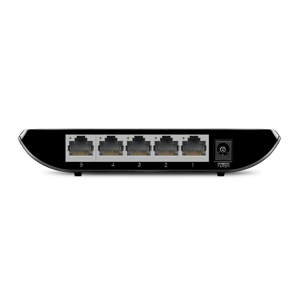 Switch Gigabit De Mesa 5 Portas  Tp-Link Tl-Sg1005D 10/100/1000 Mbps, Plug And Play