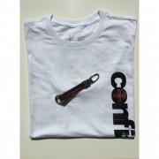 Kit Confiança 4 - Camiseta Confiança + Chaveiro couro Jesus eu confio em Vós