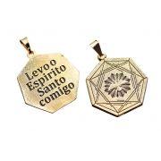 PINGENTE LEVO O ESPÍRITO SANTO COMIGO -  DIVINO CATEDRAL COM RODIO