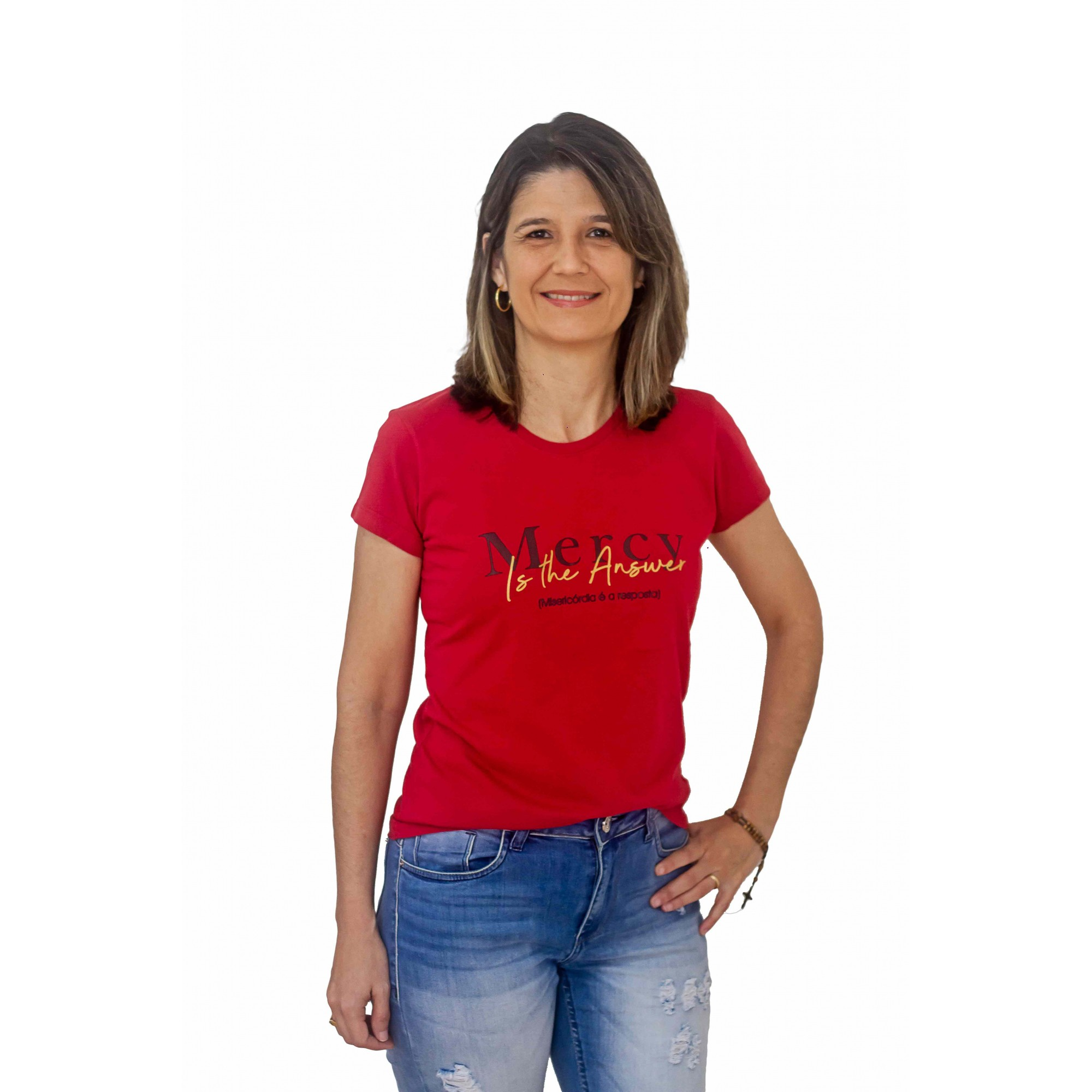 BLUSA FEMININA MERCY IS THE ANSWER BORDÔ