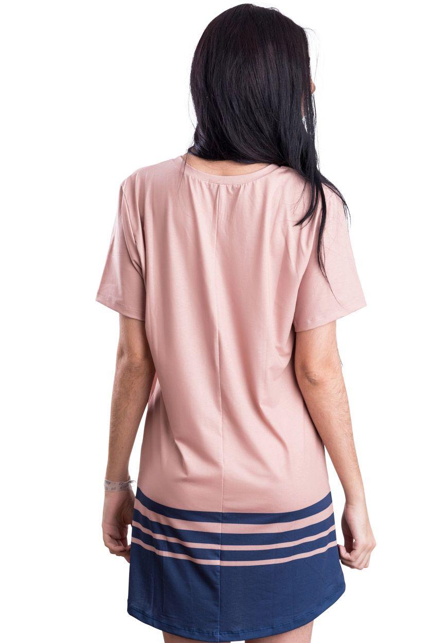 DRESS T-SHIRT BOLSO SALVE RAINHA MEDALHA MILAGROSA