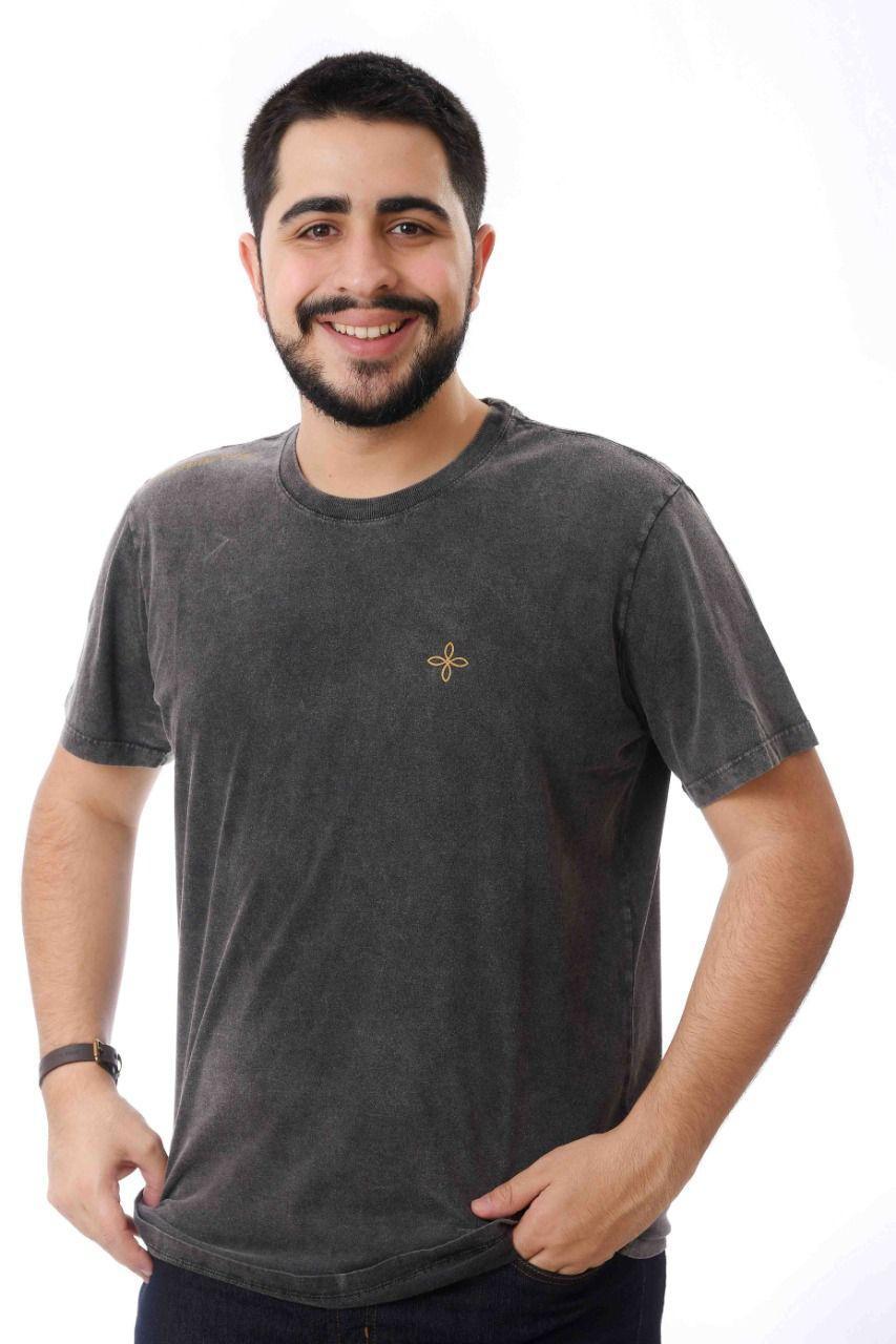 Kit Confiança 2 - Camiseta Eu confio em Vós + Chaveiro couro Jesus eu confio em Vós