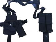 Coldre Axilar modelo MIAMI VICE - Coldre e Porta Carregador duplo