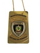 Distintivo Investigador Policia Civil Paraiba - PB