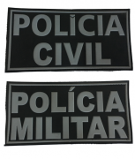 Emborrachado Polícias Civil e Militar - Costas do Colete - PM ou PC