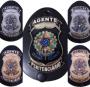 Distintivo Agente Penitenciário Brasão Nacional