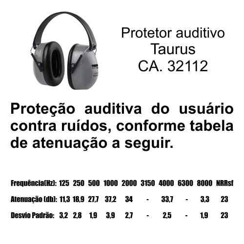 Abafador de Ruídos Taurus Tipo Concha Profissional