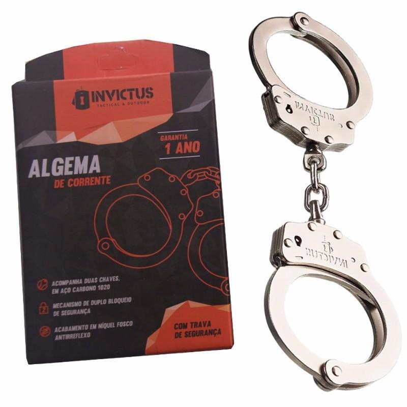 Algema em Aço Carbono de uso Policial c/ 2 chaves